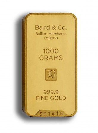 Baird gold investment bar 1000 grams buy online