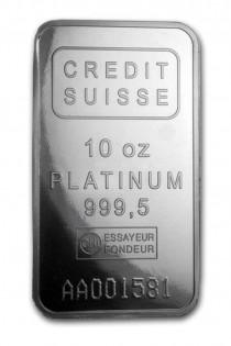 Buy 10 oz Platinum credit suisse with Indigo