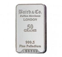 Baird Palladium Investment bar 50 grams buy online