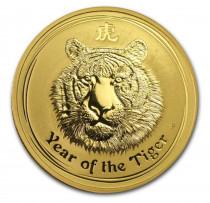 2010 Australia 1oz Gold Lunar Tiger BU .9999% (Series II) coin