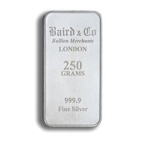 Silver 250 gram Investment Minted Bar - 999.9% Ag