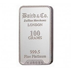 Platinum Investment Bar - 100 grams, 999.5% Pt
