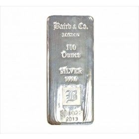 100 oz Silver Cast Bar, 999% Ag
