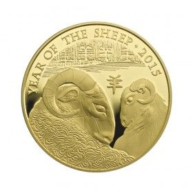 Lunar Year of the Sheep 2015 UK 1 oz Gold Bullion Coin