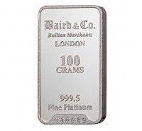 Baird Platinum Investment bar 100 grams buy online