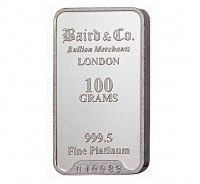Baird Platinum Investment bar 100 grams buy online