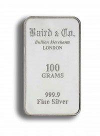 Buy 100gram Silver invetment bar online
