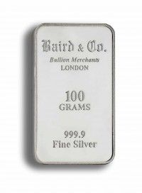 Buy 100gram Silver invetment bar online