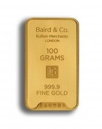 Baird gold investment bar 100 grams buy online