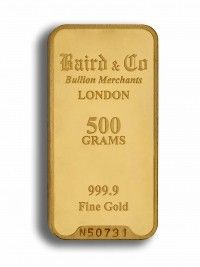 Baird gold investment bar 500 grams buy online