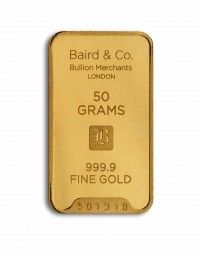 Baird gold investment bar 50 grams buy online