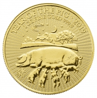 1oz gold Year of Pig, buy online with Indigo