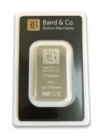 Buy 1oz platinum bar ARGOR & Baird Minted bar