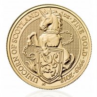 1oz gold coin The Unicorn of Scotland, buy online with Indigo