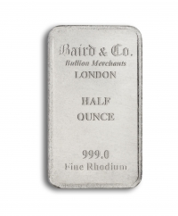 Rhodium bar 1/2 oz buy online with IPM Group