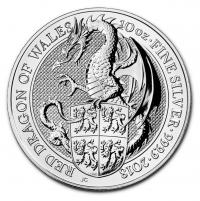 Buy 10 oz Queen's Beasts Red Dragon Silver coin | Indigo
