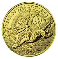 1oz gold Year of Dog, buy online with Indigo