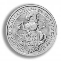 Silver 2oz coin UK RMR Unicorn Scotland buy online with Indigo